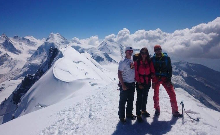 Turistický klub v auguste putoval po Alpách