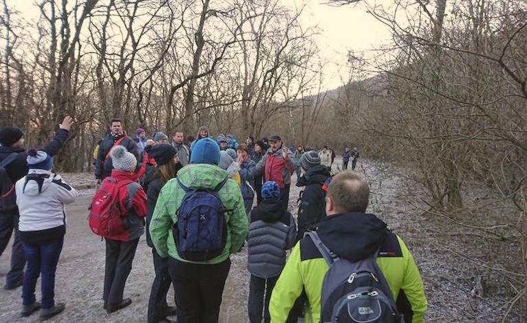 Turisti koniec roka zavŕšili tradičným výstupom na Devínsku Kobylu
